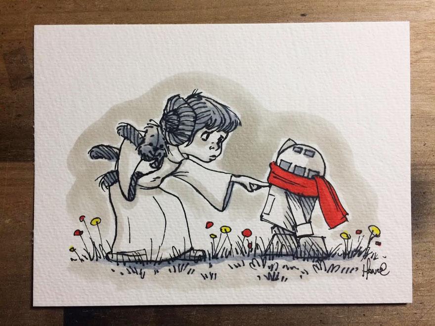 Star Wars Winnie the Pooh Art 6