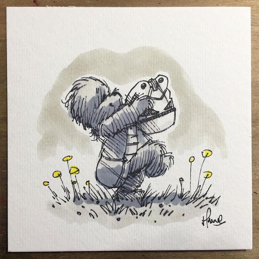 Star Wars Winnie the Pooh Art 7