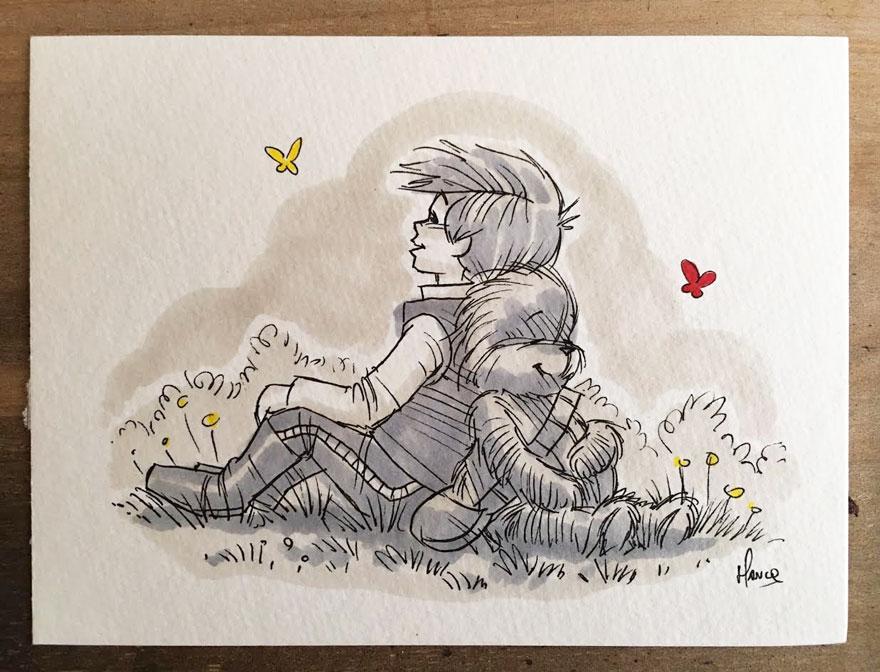 Star Wars Winnie the Pooh Art 9