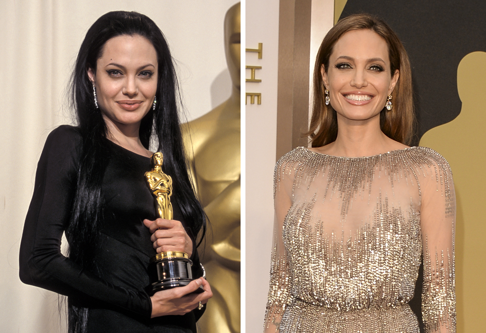 Angelina Jolie 2000 and 2014