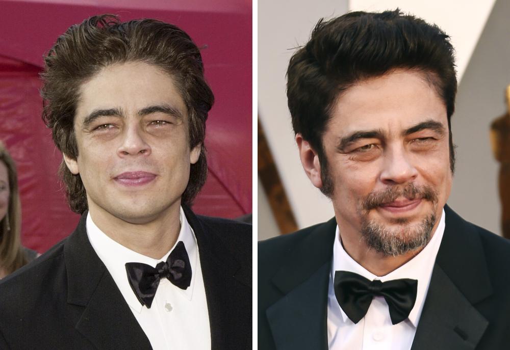 Benicio Del Toro 2001 and 2016