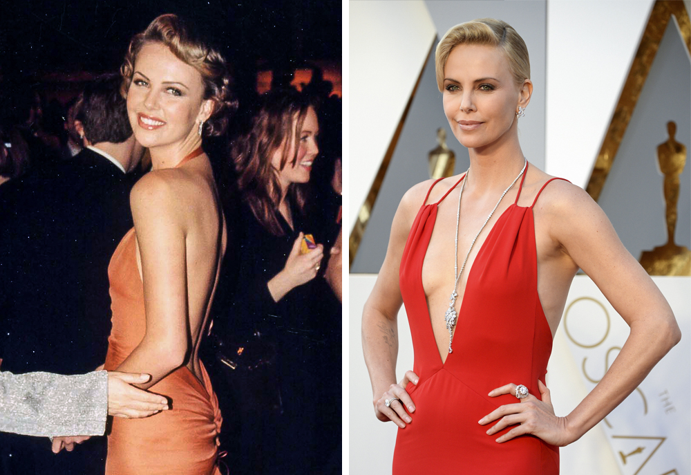Charlize Theron 2000 and 2016