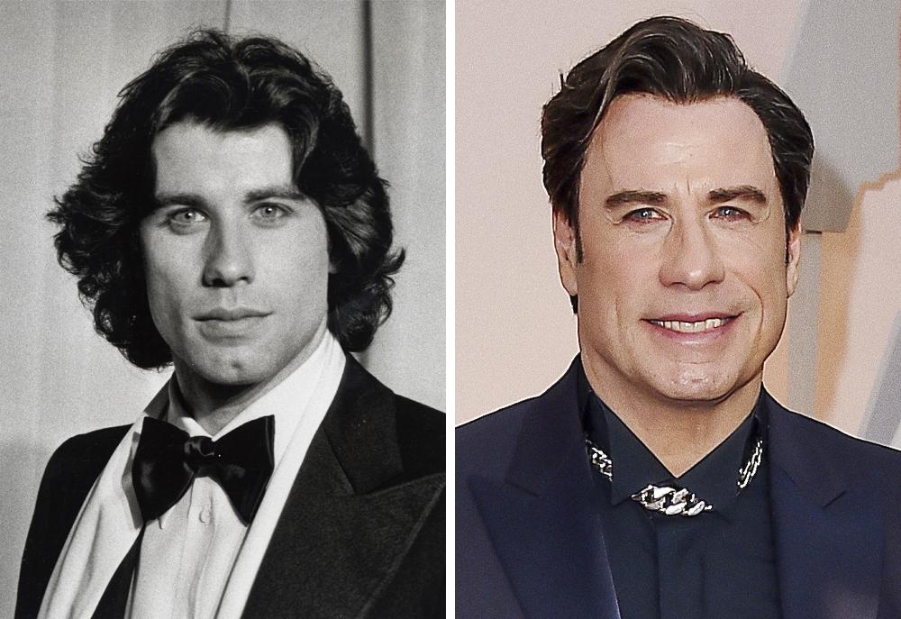 John Travolta 1978 and 2015