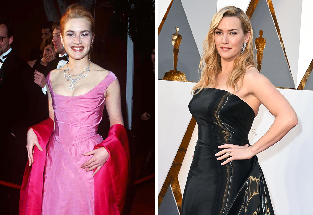 Kate Winslet 1996 and 2016