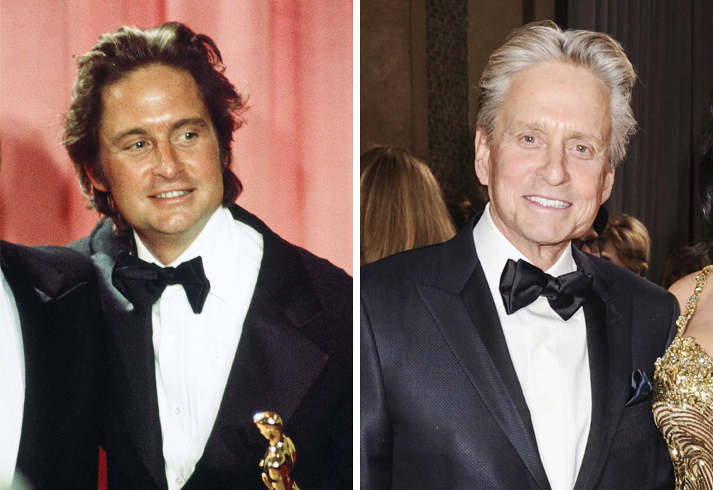 Michael Douglas 1976 and 2013