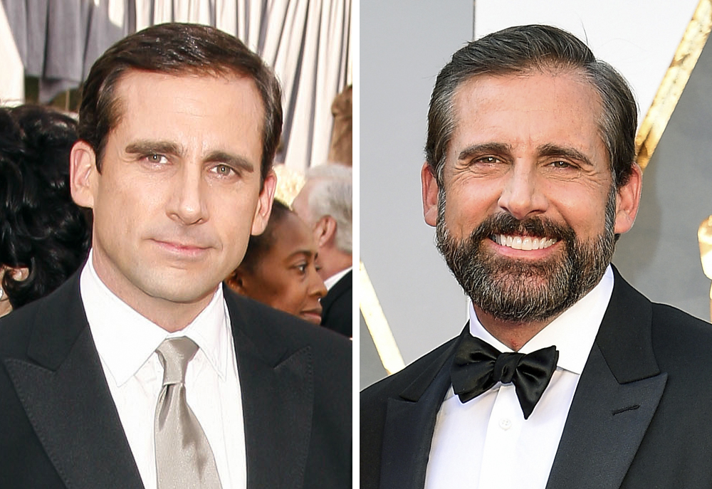 Steve Carell 2006 and 2016