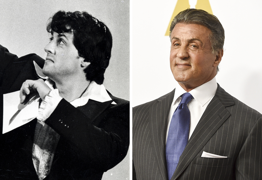 Sylvester Stallone 1977 and 2016