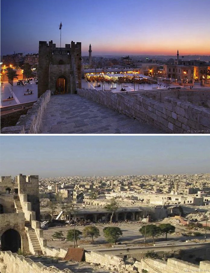 Aleppo, Syria Before and After 2